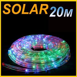 SOLAR LED 20M PVC TUBE ROPE LIGHT Multi Colored